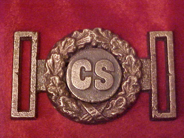 Coin Style C.S. belt plate